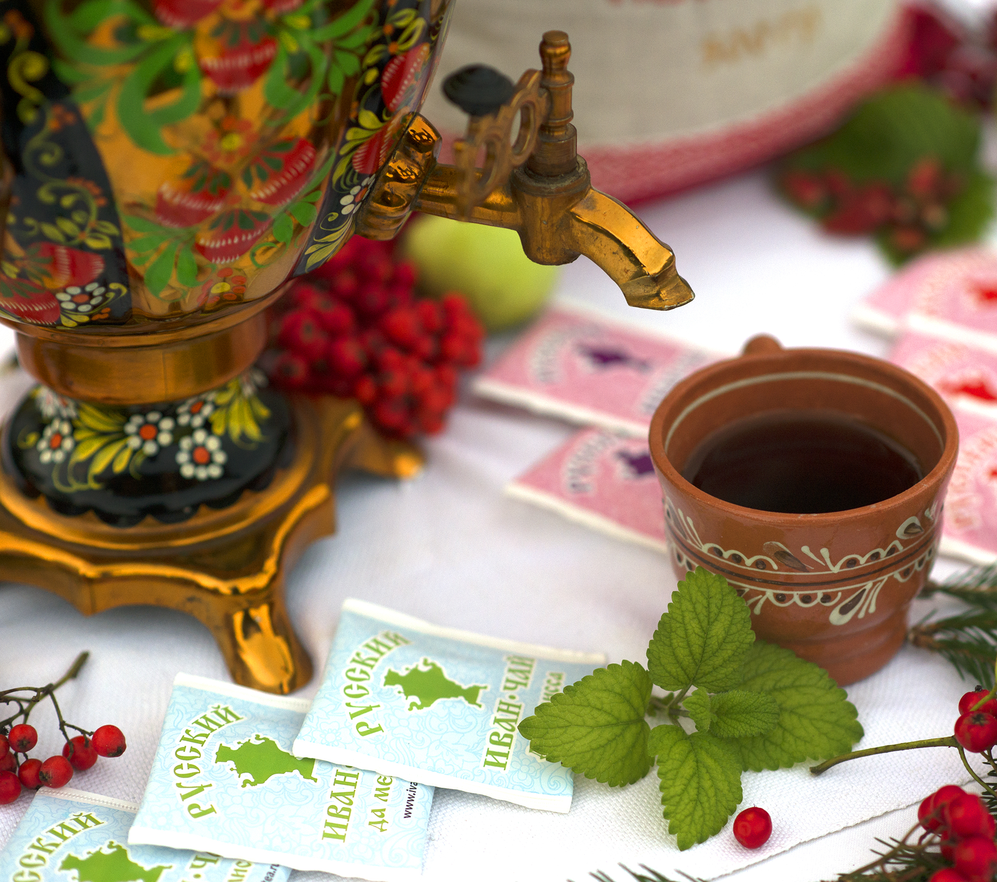 Russian Ivan-Tea & Marjoram Infusion, available in teabags