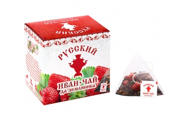 Russian Ivan-Tea & Strawberry, in pyramid tea bags