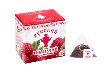 Russian Ivan-Tea & Raspberry, in pyramid tea bags