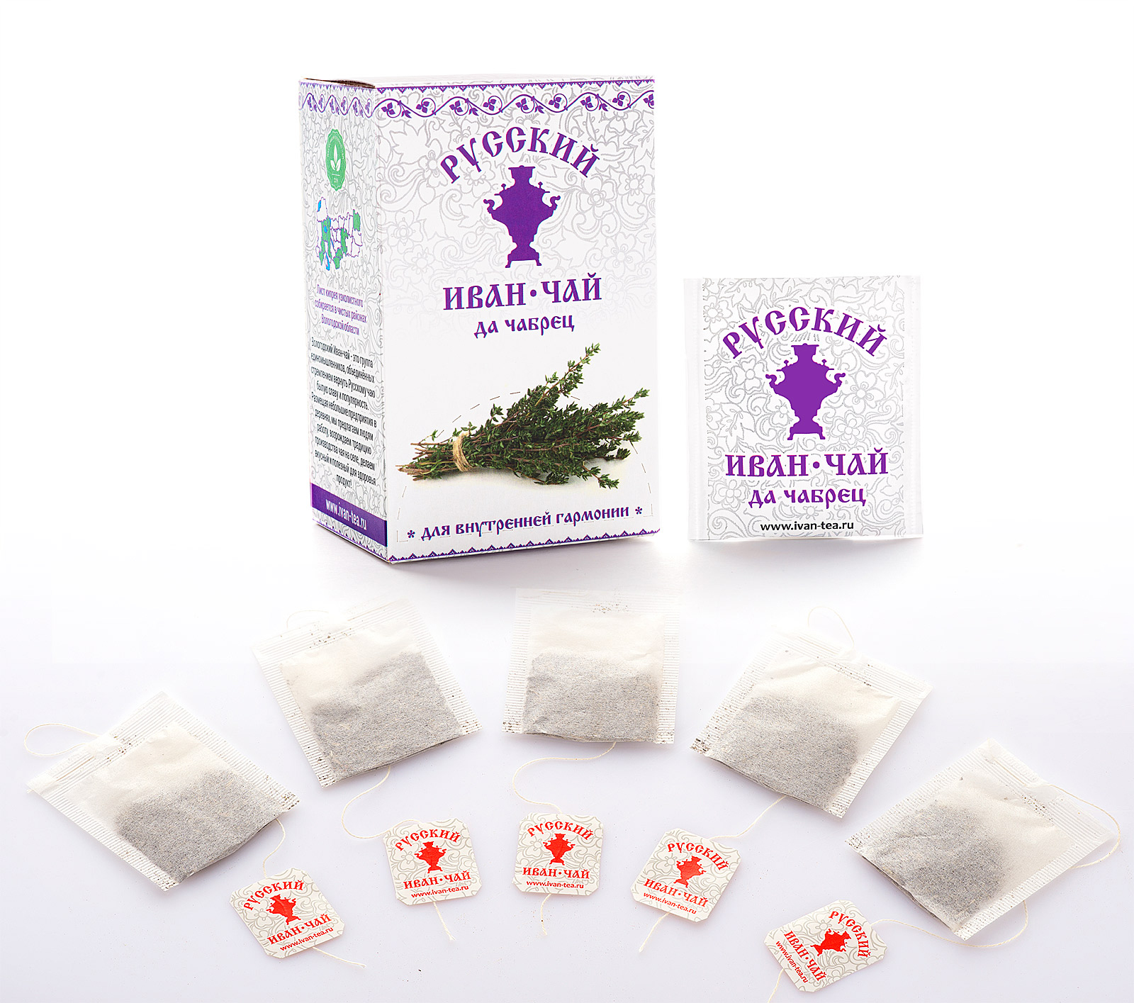 Russian Ivan-Tea & Thyme Infusion, available in teabags